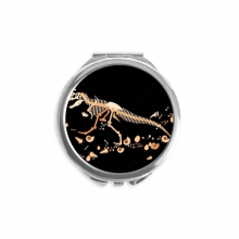 Bones Bone Miniature Dinosaur Mirror Round Portable Hand Pocket Makeup