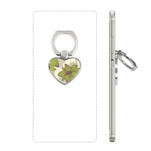 Brown Green Flower Plant Paint Heart Cell Phone Ring Stand Holder Bracket Universal Support Gift