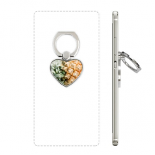 Fresh Tropical Fruit Pineapple Picture Heart Cell Phone Ring Stand Holder Bracket Universal Support Gift
