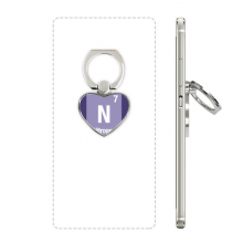 N Nitrogen Chemical Element Science Heart Cell Phone Ring Stand Holder Bracket Universal Support Gift