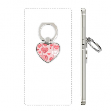 Happy Valentine's Day Love You Hearts Heart Cell Phone Ring Stand Holder Bracket Universal Support Gift