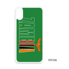 Zambia Country Flag Name For iPhone X Cases White Phonecase Apple Cover Case Gift
