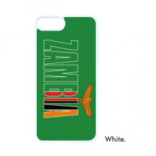 Zambia Country Flag Name For iPhone 7/8 Plus Cases White Phonecase Apple Cover Case Gift