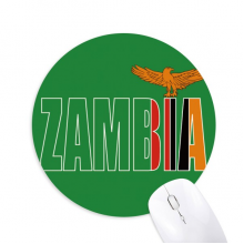 Zambia Country Flag Name Round Non-Slip Rubber Mousepad Game Office Mouse Pad Gift