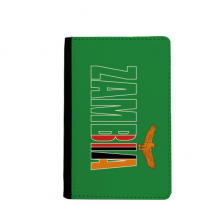 Zambia Country Flag Name Passpord Holder Travel Wallet Cover Case Card Purse Gifts