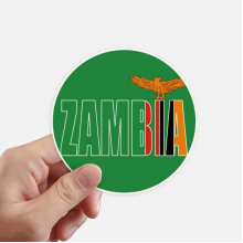 Zambia Country Flag Name Round Stickers 10cm Wall Suitcase Laptop Motobike Decal 8pcs