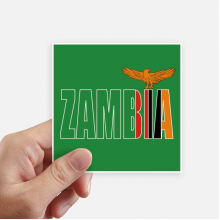 Zambia Country Flag Name Square Stickers 10cm Wall Suitcase Laptop Motobike Decal 8pcs