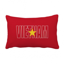 Vietnam Country Flag Name Throw Pillow Lumbar Insert Cushion Cover Home Decoration