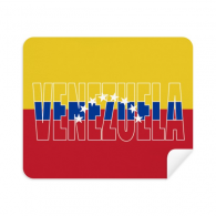 Venezuela Country Flag Name Phone Screen Cleaner Glasses Cleaning Cloth 2pcs Suede Fabric
