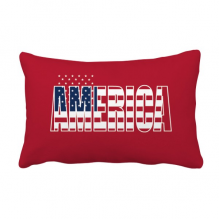 America USA Country Flag Name Throw Pillow Lumbar Insert Cushion Cover Home Decoration