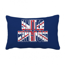 United Kingdom UK Flag Name Throw Pillow Lumbar Insert Cushion Cover Home Decoration
