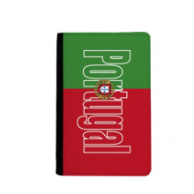 Portugal Country Flag Name Passport Holder Travel Wallet Cover Case Card Purse