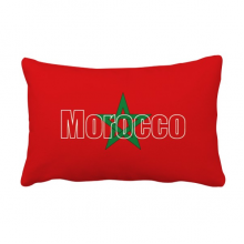 Morocco Country Flag Name Throw Pillow Lumbar Insert Cushion Cover Home Decoration