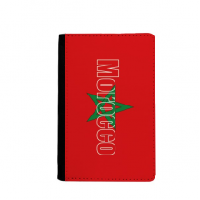 Morocco Country Flag Name Passport Holder Travel Wallet Cover Case Card Purse