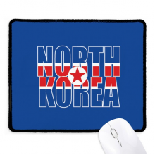 North Korea Country Flag Name Non-Slip Mousepad Game Office Black Stitched Edges Gift