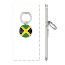 Jamaica Country Flag Name Phone Ring Stand Holder Adjustable Loop Support