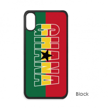 Ghana Country Flag Name for iPhone XS Max iPhonecase Cover Apple Phone Case