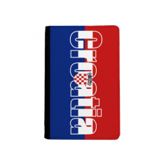 Croatia Country Flag Name Passport Holder Travel Wallet Cover Case Card Purse