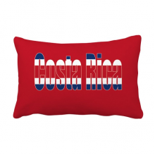 Costa Rica Country Flag Name Throw Pillow Lumbar Insert Cushion Cover Home Decoration