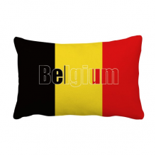 Belgium Country Flag Name Throw Pillow Lumbar Insert Cushion Cover Home Decoration