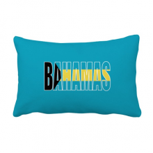 Bahamas Country Flag Name Throw Pillow Lumbar Insert Cushion Cover Home Decoration