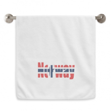 Norway Country Flag Name Circlet White Towels Soft Towel Washcloth 13x29 Inch