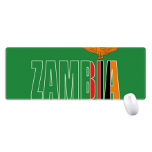 Zambia Country Flag Name Non-Slip Mousepad Large Extended Game Office titched Edges Mat Gift