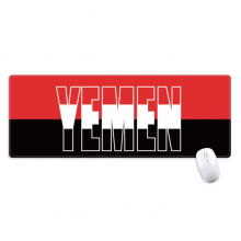 Yemen Country Flag Name Non-Slip Mousepad Large Extended Game Office titched Edges Mat Gift
