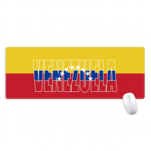 Venezuela Country Flag Name Non-Slip Mousepad Large Extended Game Office titched Edges Mat Gift