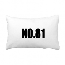 Lucky No.81 Number Name Throw Lumbar Pillow Insert Cushion Cover Home Sofa Decor Gift