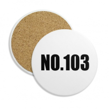 Lucky No.103 Number Name Ceramic Coaster Cup Mug Holder Absorbent Stone for Drinks 2pcs Gift