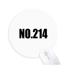 Lucky No.214 Number Name Round Non-Slip Rubber Mousepad Game Office Mouse Pad Gift