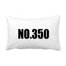 Lucky No.350 Number Name Throw Lumbar Pillow Insert Cushion Cover Home Sofa Decor Gift