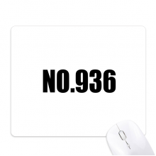 Lucky No.936 Number Name Mouse Pad Non-Slip Rubber Mousepad Game Office
