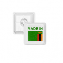 Made In Zambia Country Love PBT Keycaps for Mechanical Keyboard White OEM No Marking Print