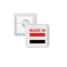 Made In Yemen Country Love PBT Keycaps for Mechanical Keyboard White OEM No Marking Print