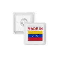 Made In Venezuela Country Love PBT Keycaps for Mechanical Keyboard White OEM No Marking Print