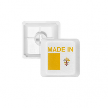 Made In Vatican City Country Love PBT Keycaps for Mechanical Keyboard White OEM No Marking Print