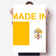 Made In Vatican City Country Love Vinyl Wall Sticker Poster Mural Wallpaper Room Decal 80X55cm