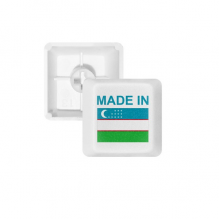 Made In Uzbekistan Country Love PBT Keycaps for Mechanical Keyboard White OEM No Marking Print