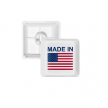 Made In United States Country Love PBT Keycaps for Mechanical Keyboard White OEM No Marking Print