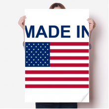 Made In United States Country Love Vinyl Wall Sticker Poster Mural Wallpaper Room Decal 80X55cm