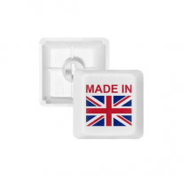 Made In United Kingdom Country Love PBT Keycaps for Mechanical Keyboard White OEM No Marking Print