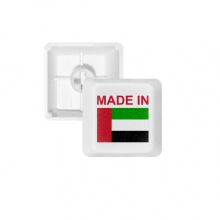 Made In Arab Emirates Country Love PBT Keycaps for Mechanical Keyboard White OEM No Marking Print