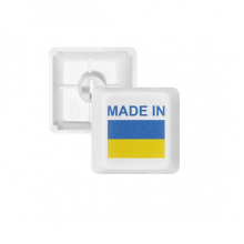 Made In Ukraine Country Love PBT Keycaps for Mechanical Keyboard White OEM No Marking Print