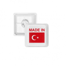 Made In Turkey Country Love PBT Keycaps for Mechanical Keyboard White OEM No Marking Print