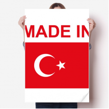 Made In Turkey Country Love Vinyl Wall Sticker Poster Mural Wallpaper Room Decal 80X55cm