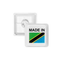 Made In Tanzania Country Love PBT Keycaps for Mechanical Keyboard White OEM No Marking Print