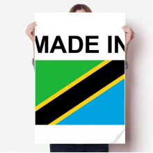 Made In Tanzania Country Love Vinyl Wall Sticker Poster Mural Wallpaper Room Decal 80X55cm