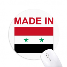 Made In Syria Country Love Round Non-Slip Rubber Mousepad Game Office Mouse Pad Gift